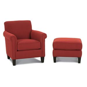 Rowe Chairs and Accents McGuire Chair and Ottoman