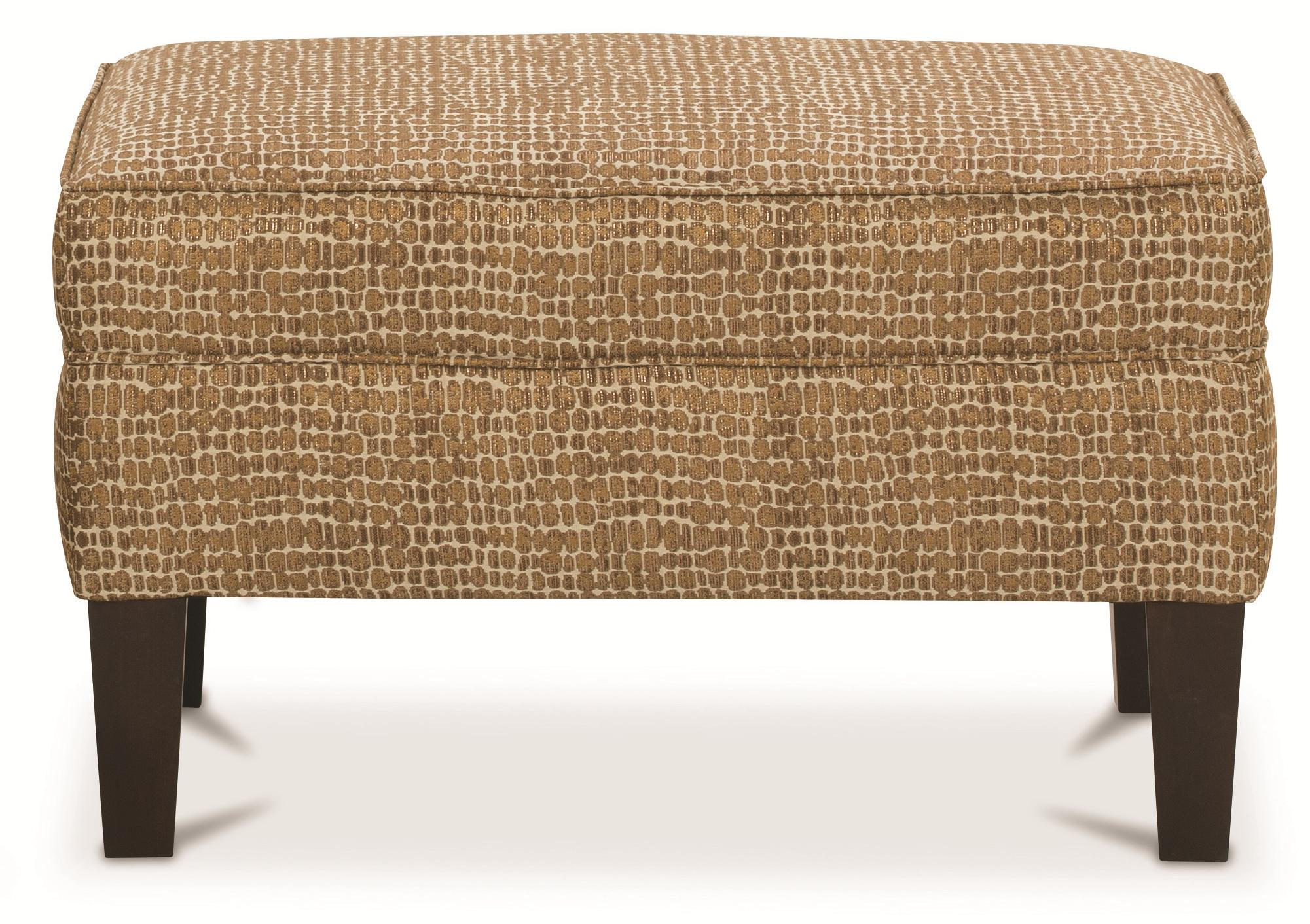 Merveilleux Chairs And Accents Cole Upholstered Ottoman By Rowe
