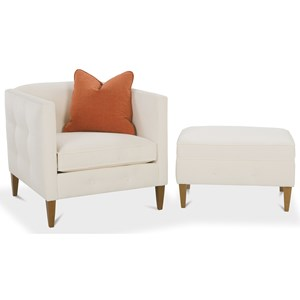 Rowe Claire  Chair and Ottoman