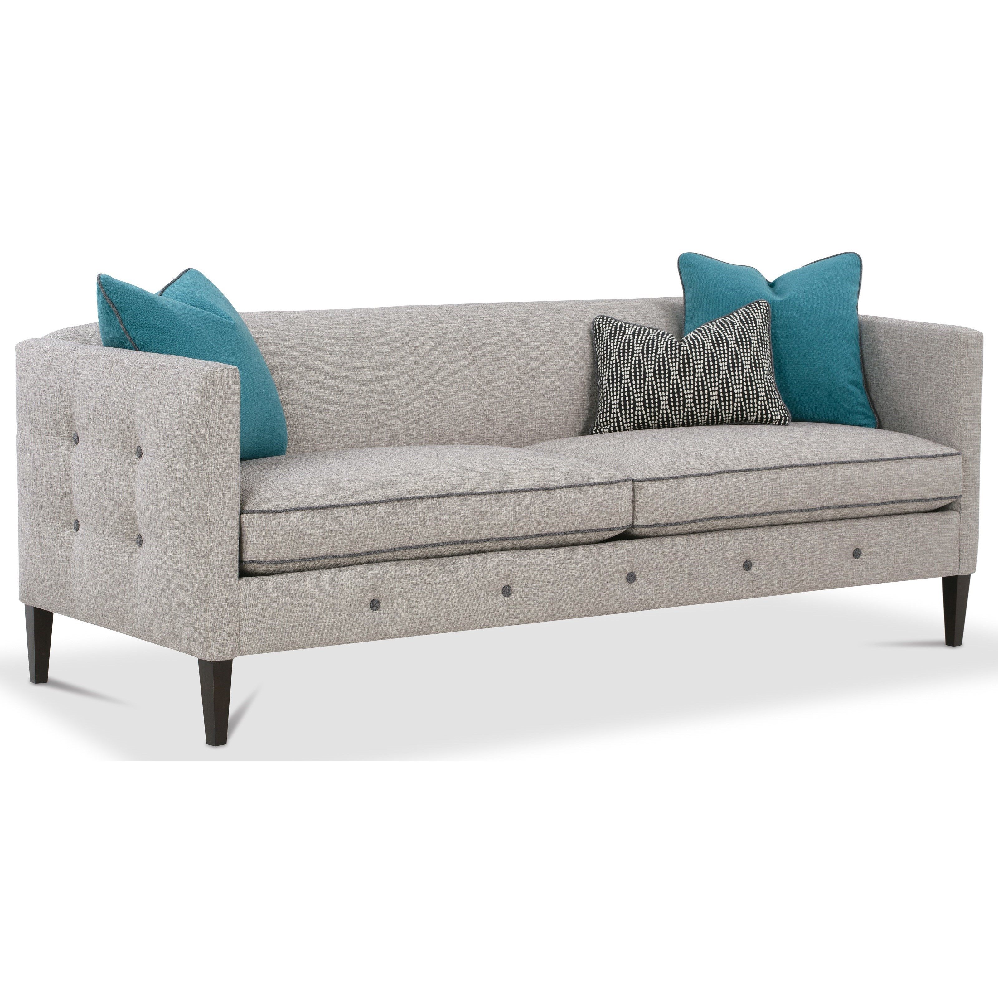 Claire  Cushion Sofa by Rowe at Saugerties Furniture Mart