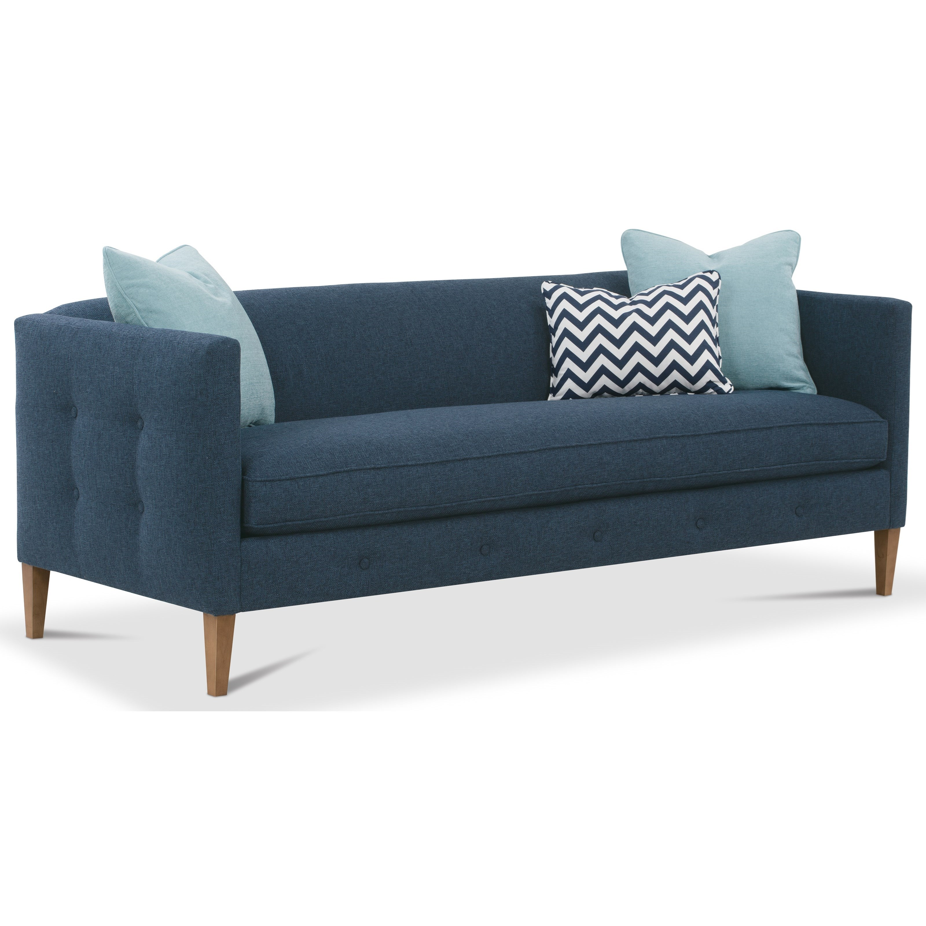 Claire  Bench Cushion Sofa by Rowe at Saugerties Furniture Mart