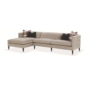 Rowe Claire  Contemporary 2 Piece Sectional Sofa