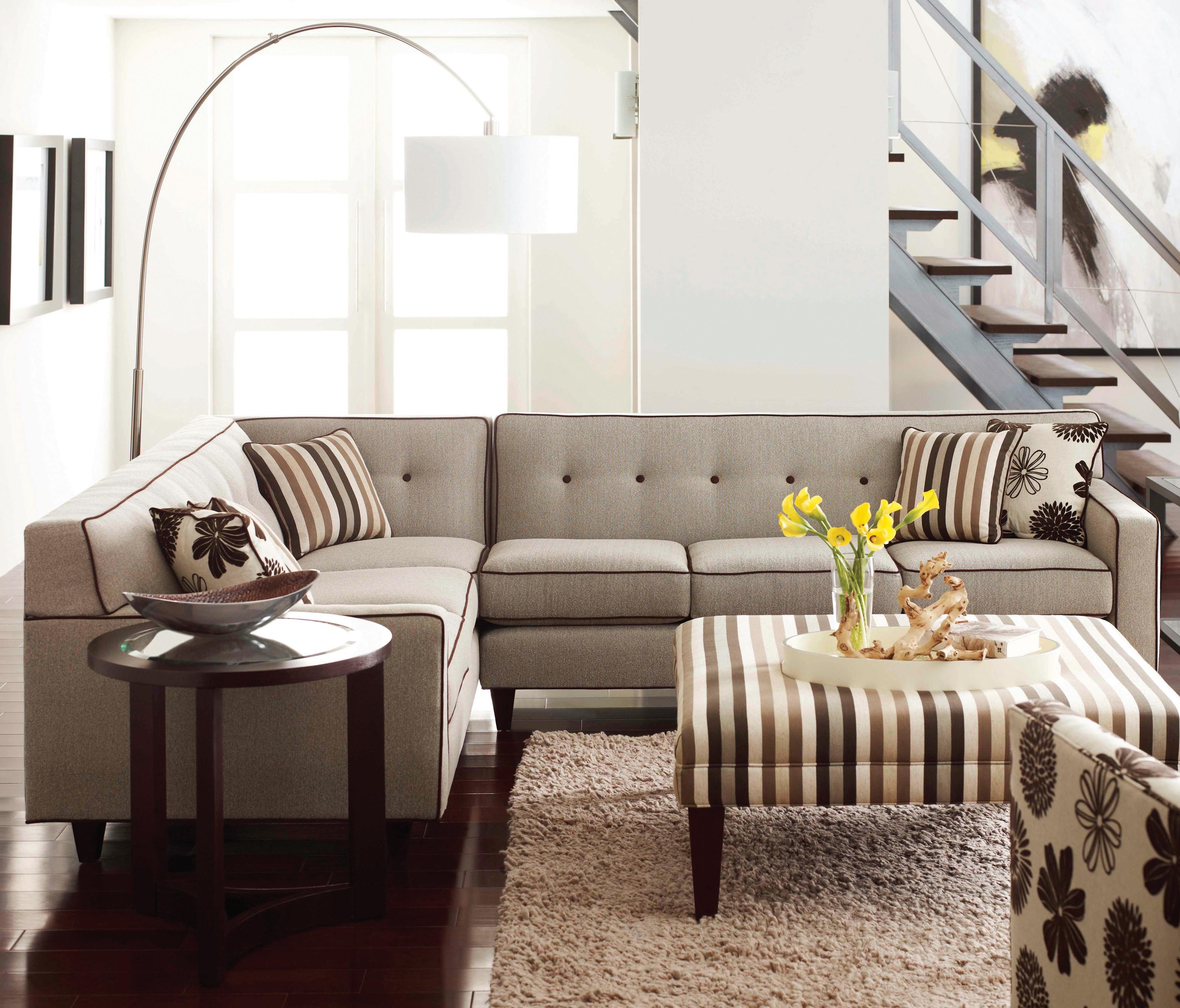 Rowe Dorset Corner Sectional with Tufted Back - Item Number: K520-118+117