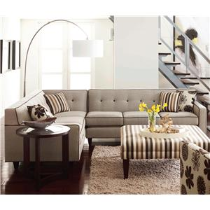 Rowe Dorset Corner Sectional with Tufted Back