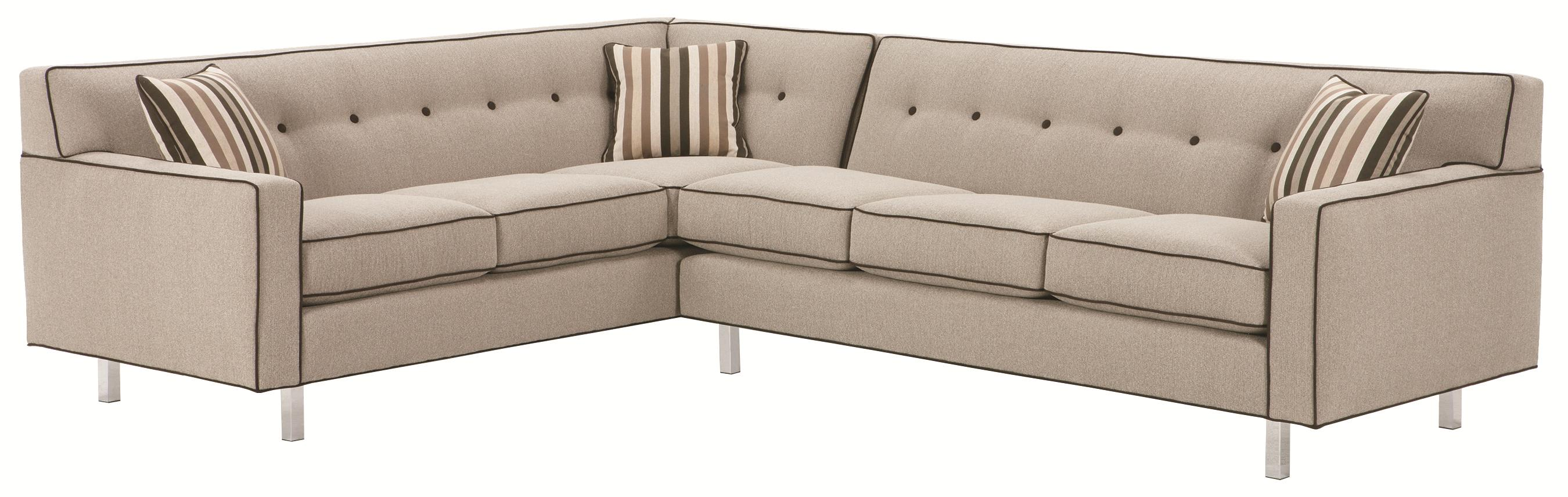 Rowe Dorset Corner Sectional with Tufted Back AHFA Sofa