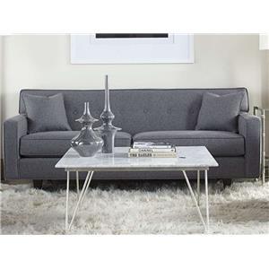 "Rowe Dorset 81"" 2-Cushion Sofa (wood finish)"