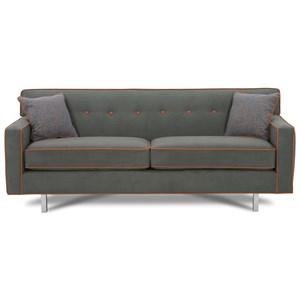 "Rowe Dorset 81"" 2-Cushion Sofa (chrome leg)"