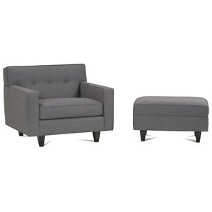 Rowe Dorset Upholstered Chair & Ottoman