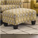 Rowe Easley Contemporary Rectangular Ottoman with Wood Feet