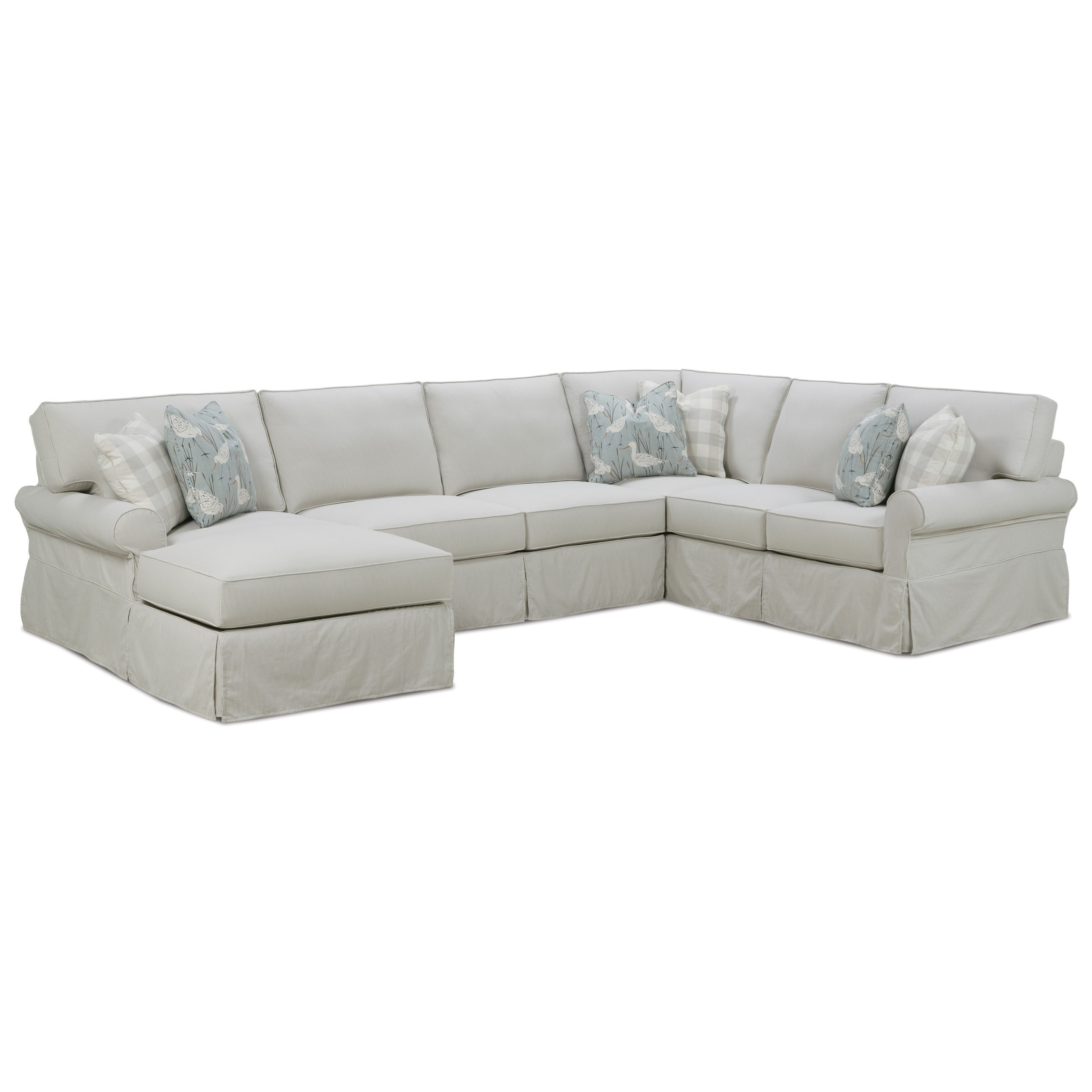 Rowe Easton Casual Sectional Sofa With Slipcover Belfort Furniture Sectional Sofas