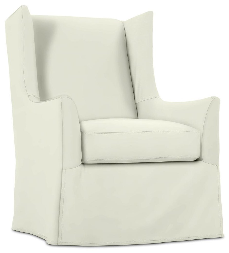 Ellory Slipcover Swivel Chair by Rowe at Johnny Janosik