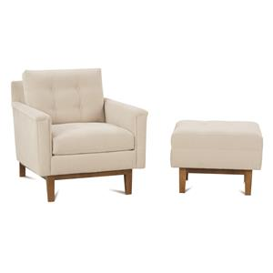Rowe Ethan  Chair and Ottoman Set