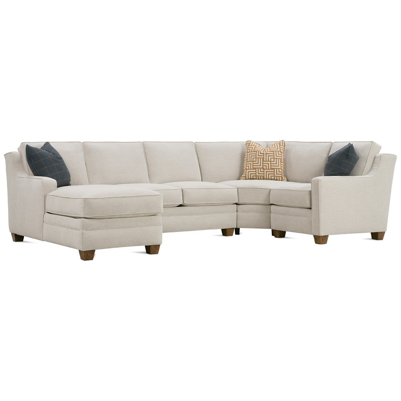 4-Piece Sectional with LAF Chaise