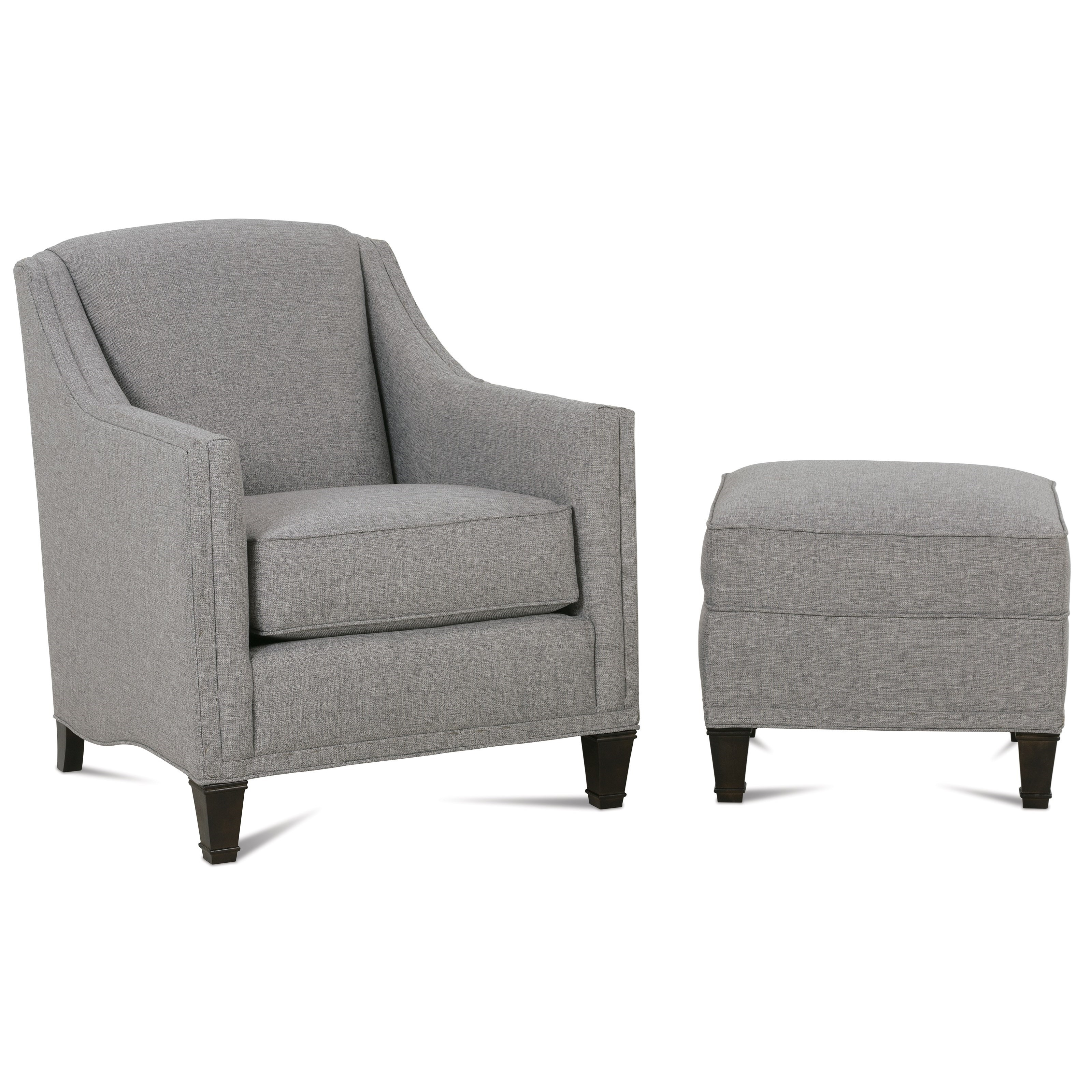 Gibson Chair & Ottoman by Rowe at Baer's Furniture