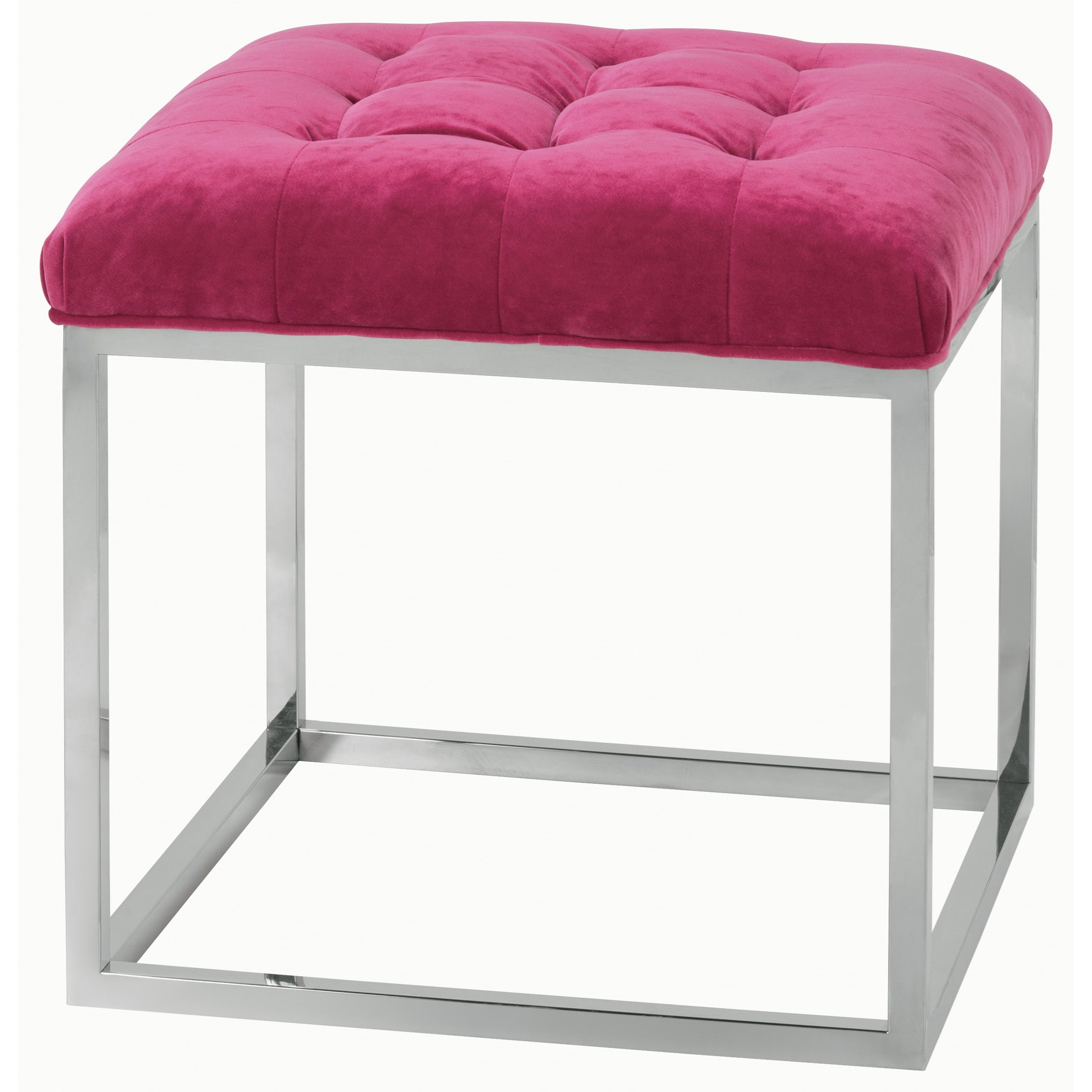 Rowe Gillian Contemporary Cube Ottoman With Tufted Seat