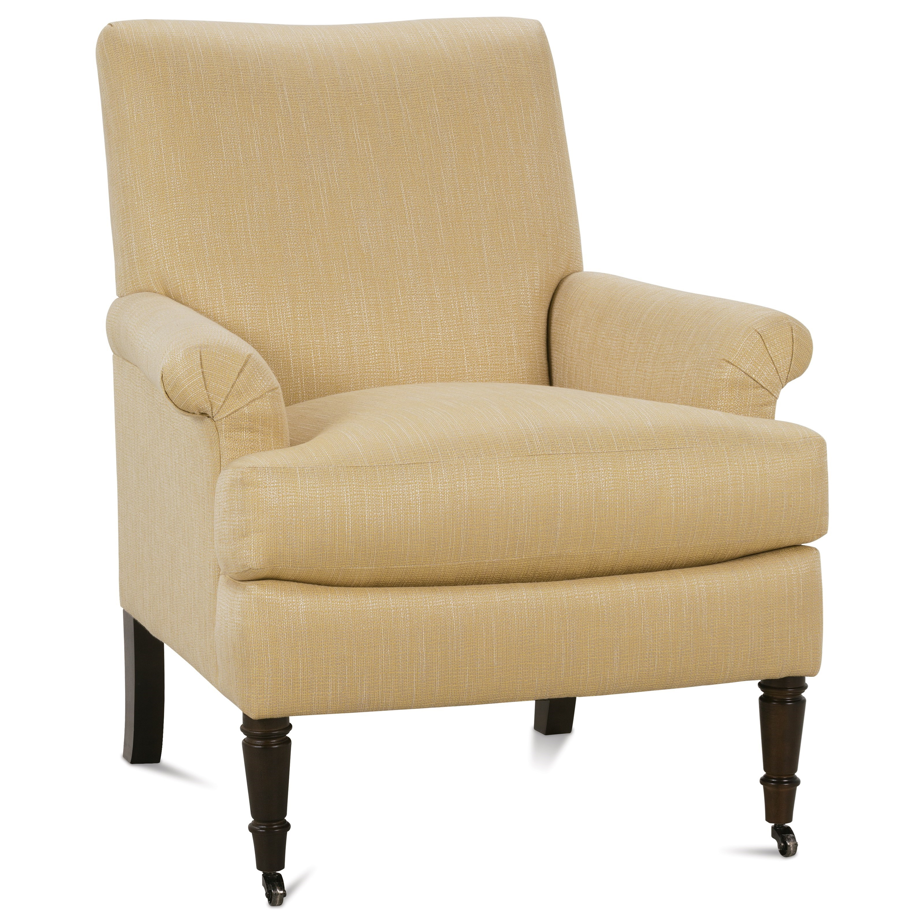 Rowe Hannah P290-006 Traditional Accent Chair with Rolled Arms and ...