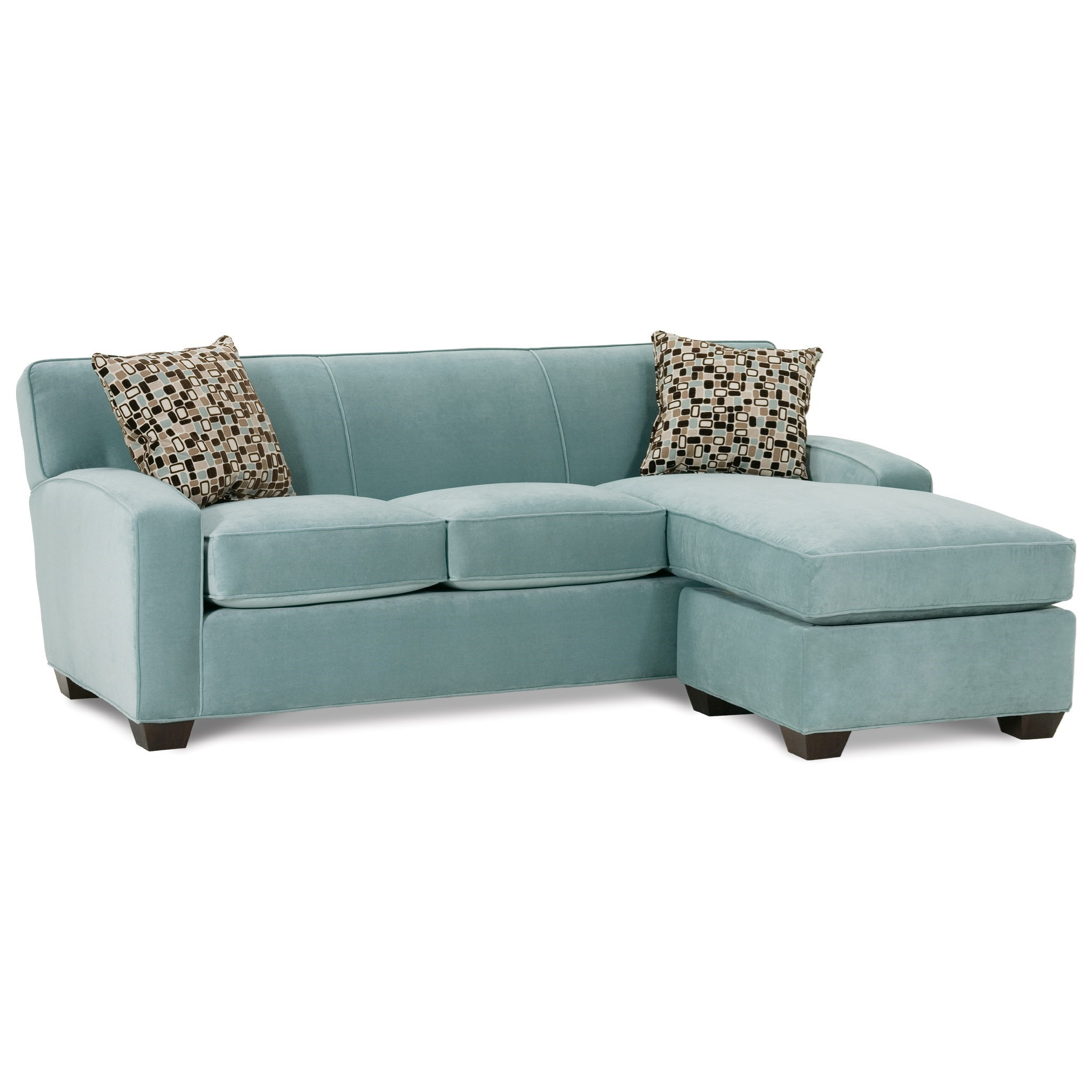 Rowe Horizon Transitional Sofa And Chaise With Wood Legs Belfort Furniture Sectional Sofas