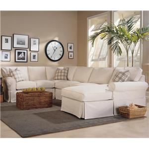 Rowe Masquerade 3-Piece Slipcover Sectional