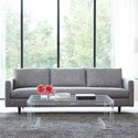 Rowe Modern Mix Contemporary Large Sofa with Tapered Feet