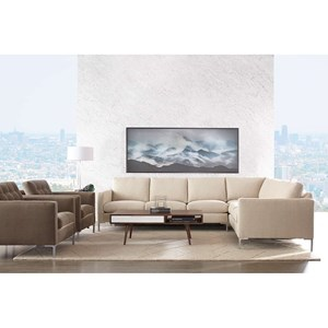 Rowe Modern Mix Sectional Sofa