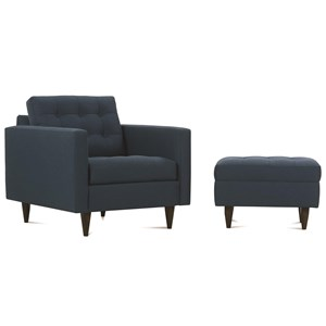 Rowe Modern Mix Chair and Ottoman Set