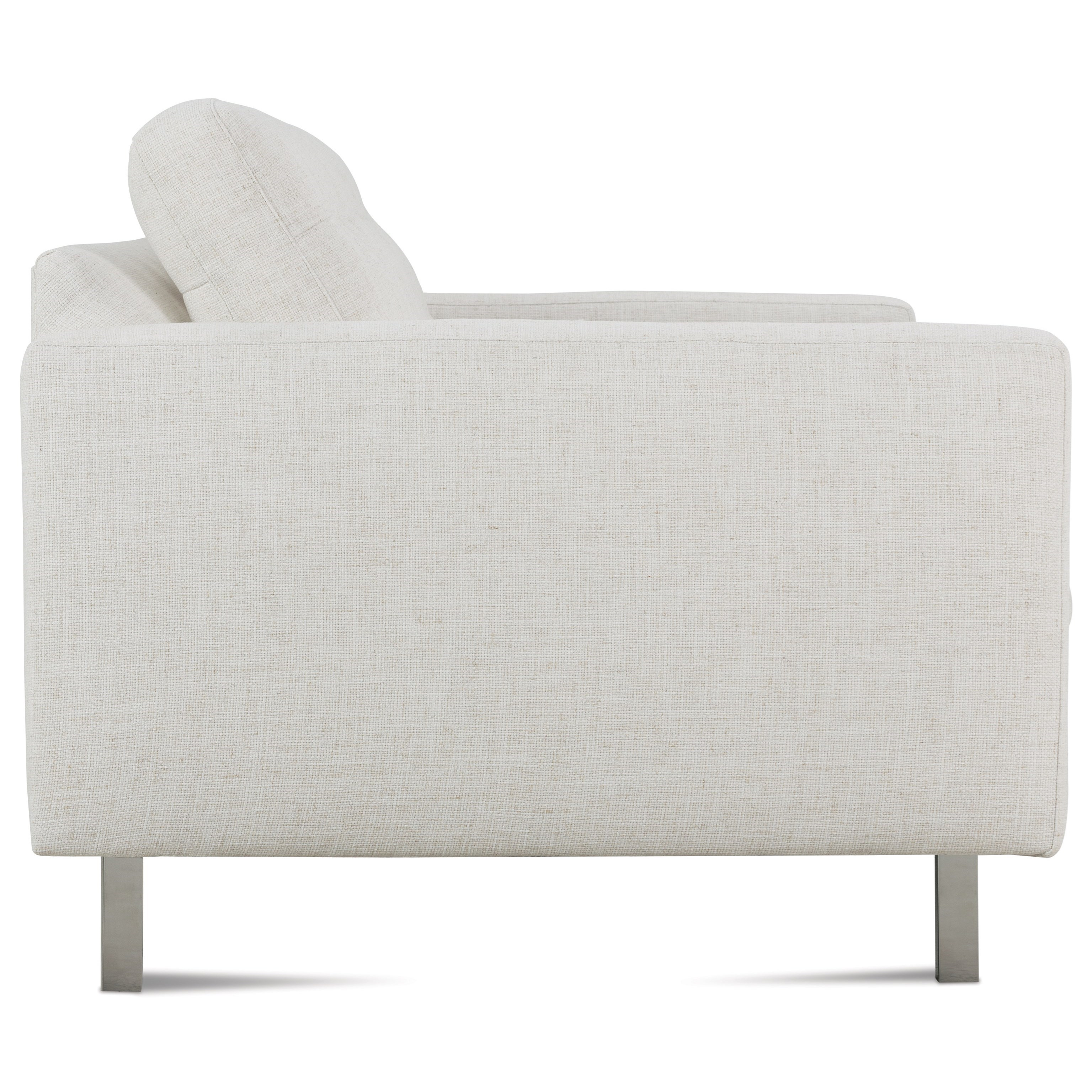 Rowe Modern Mix Contemporary Apartment Sofa With Straight