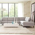 Rowe Modern Mix Sectional Sofa - Item Number: MD110-C-111+116-15444-47