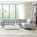 Rowe Modern Mix Contemporary Sectional Sofa with Chaise