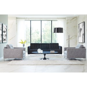 Modern Mix Stationary Living Room Group by Rowe