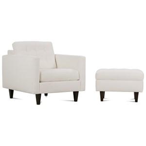 Rowe Modern Mix Chair and Ottoman Set