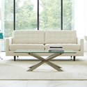 Rowe Modern Mix Contemporary Sofa with Tufted Seat and Back