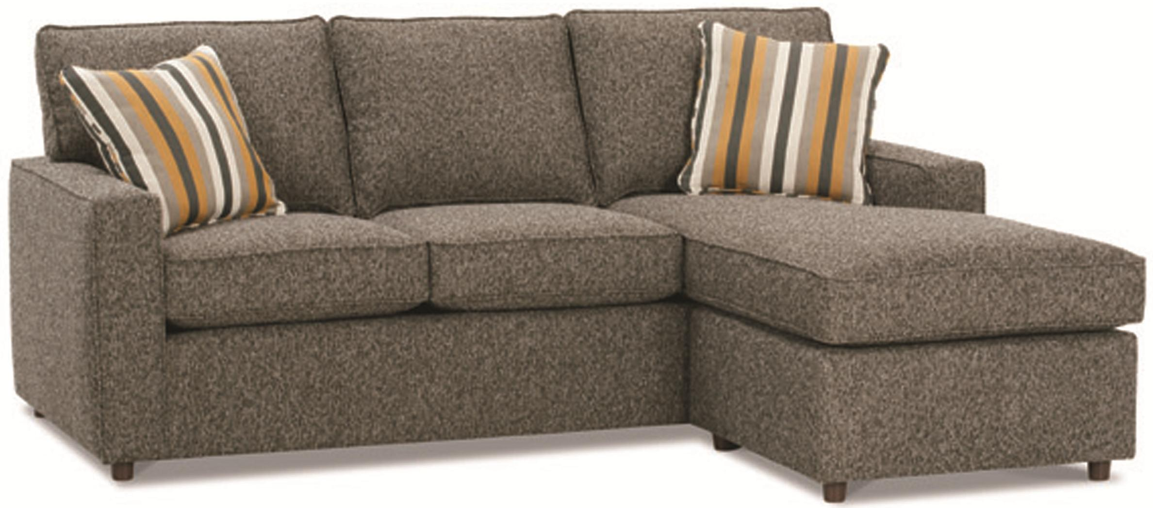 Rowe Monaco Contemporary Sofa with Reversible Chaise Ottoman