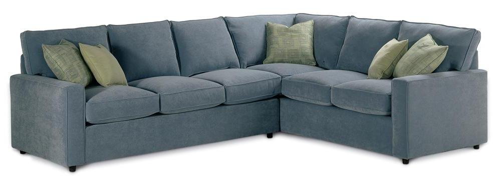 Rowe Monaco Sectional Sofa - Item Number: D186-RSE+D188-LSE