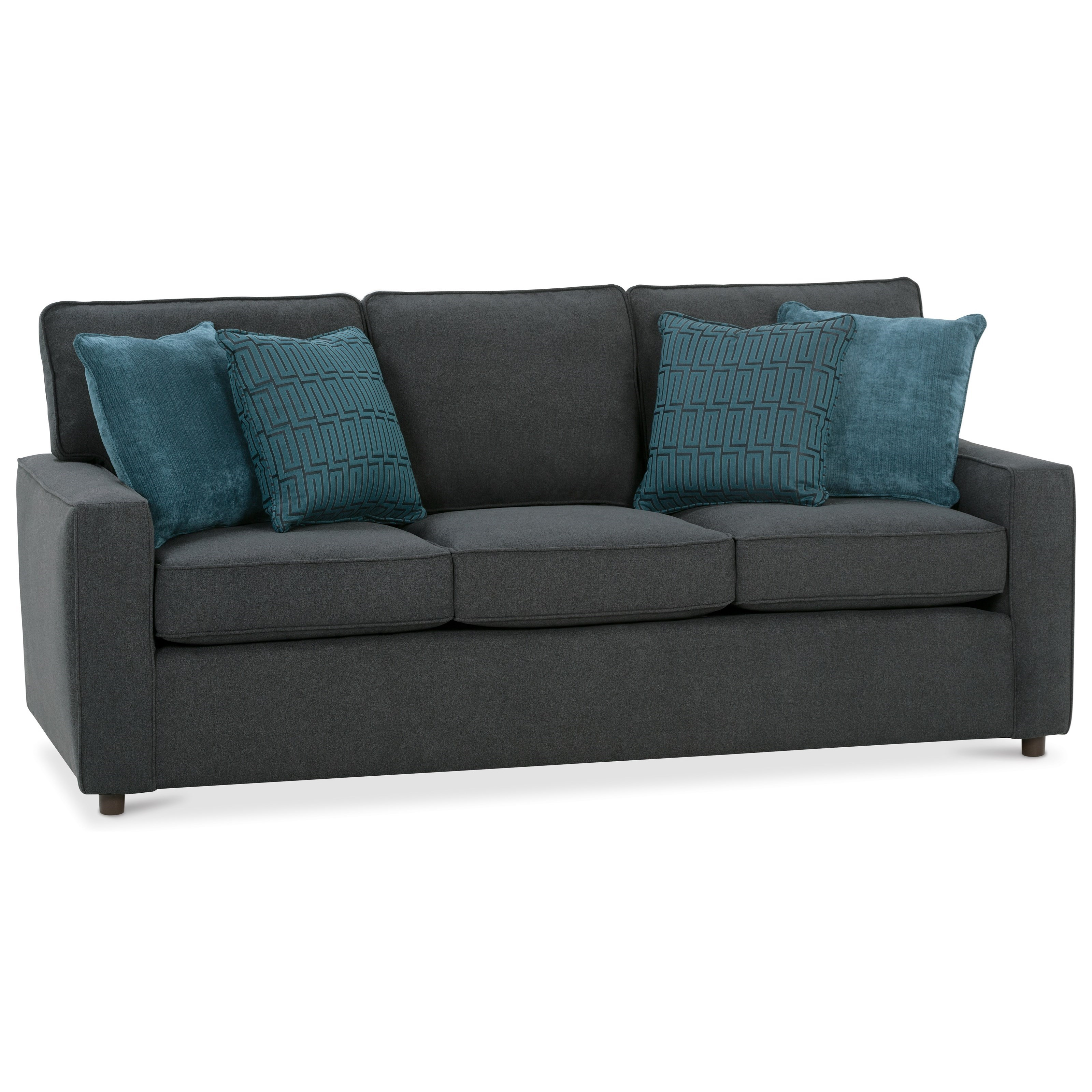 Monaco Queen Sofa Sleeper by Rowe at Baer's Furniture