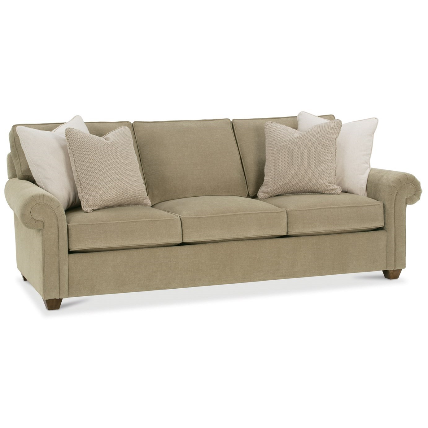 Rowe Morgan N700 002 Traditional Stationary Sofa With Nailhead Trim Becker Furniture World Sofas