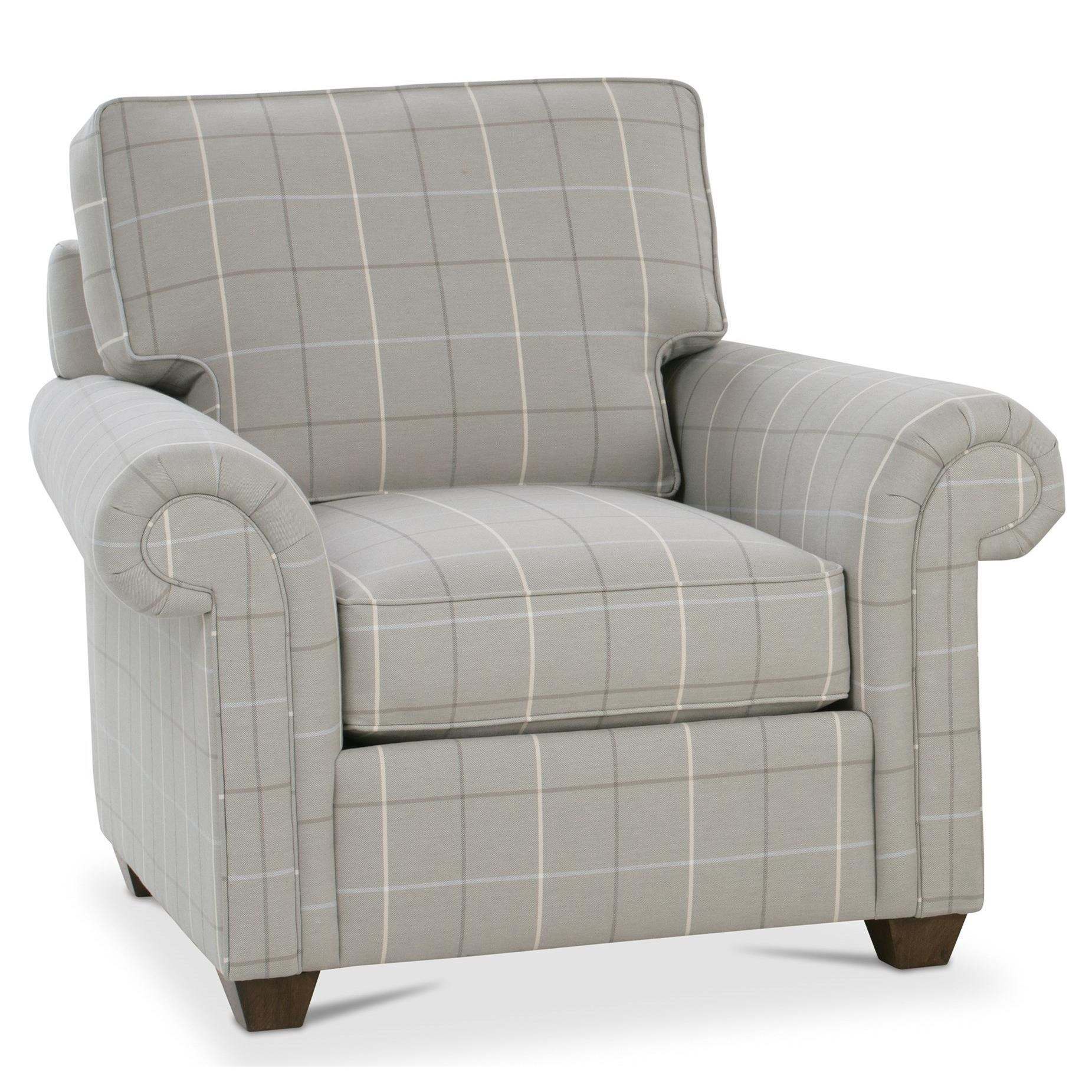 Rowe Morgan Traditional Stationary Chair With Rolled Arms