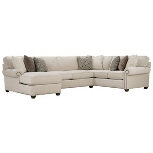 Traditional Three Piece Sectional Sofa