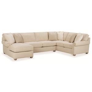 Rowe Morgan Traditional Three Piece Sectional Sofa