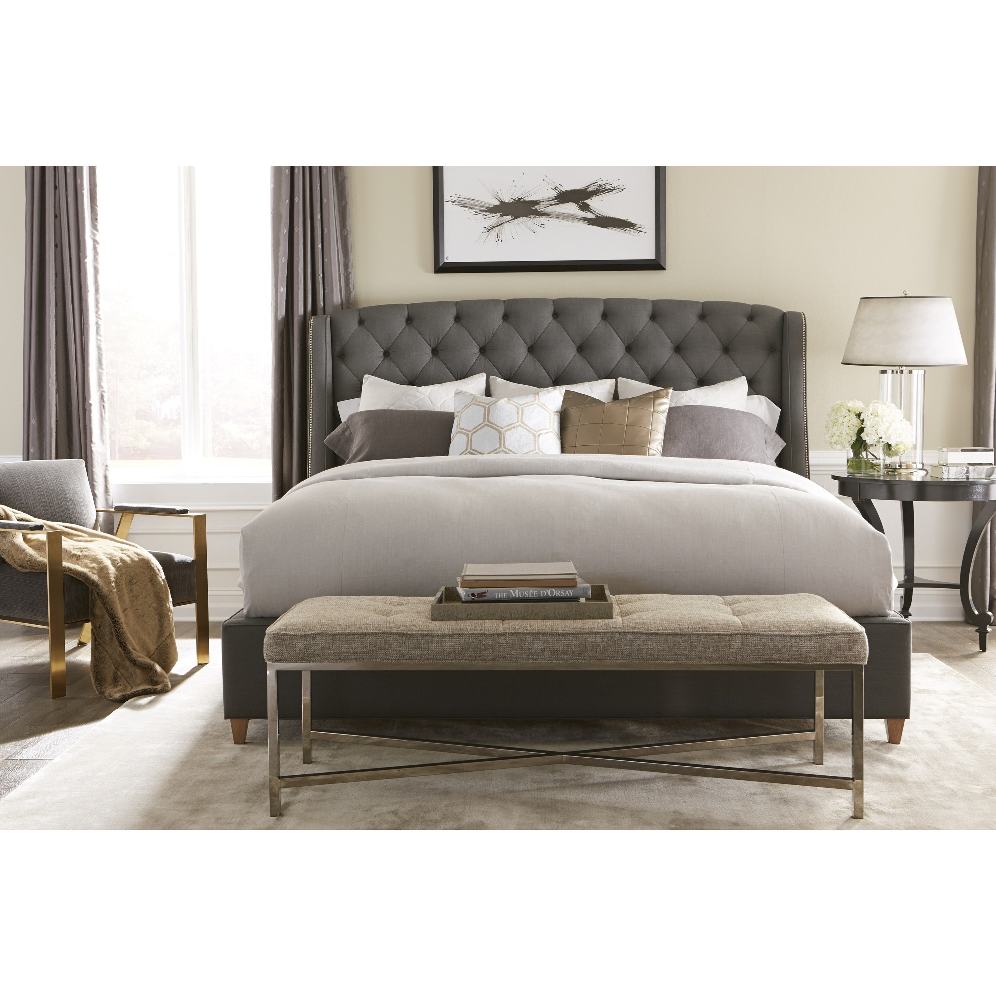 rowe my style beds kirkwood 60 king upholstered bed