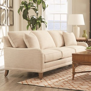 Rowe My Style I & II Transitional Sofa with Tapered Legs