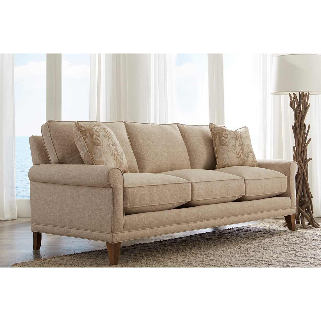 Rowe My Style Ii Customizable Sofa Sleeper With Rolled