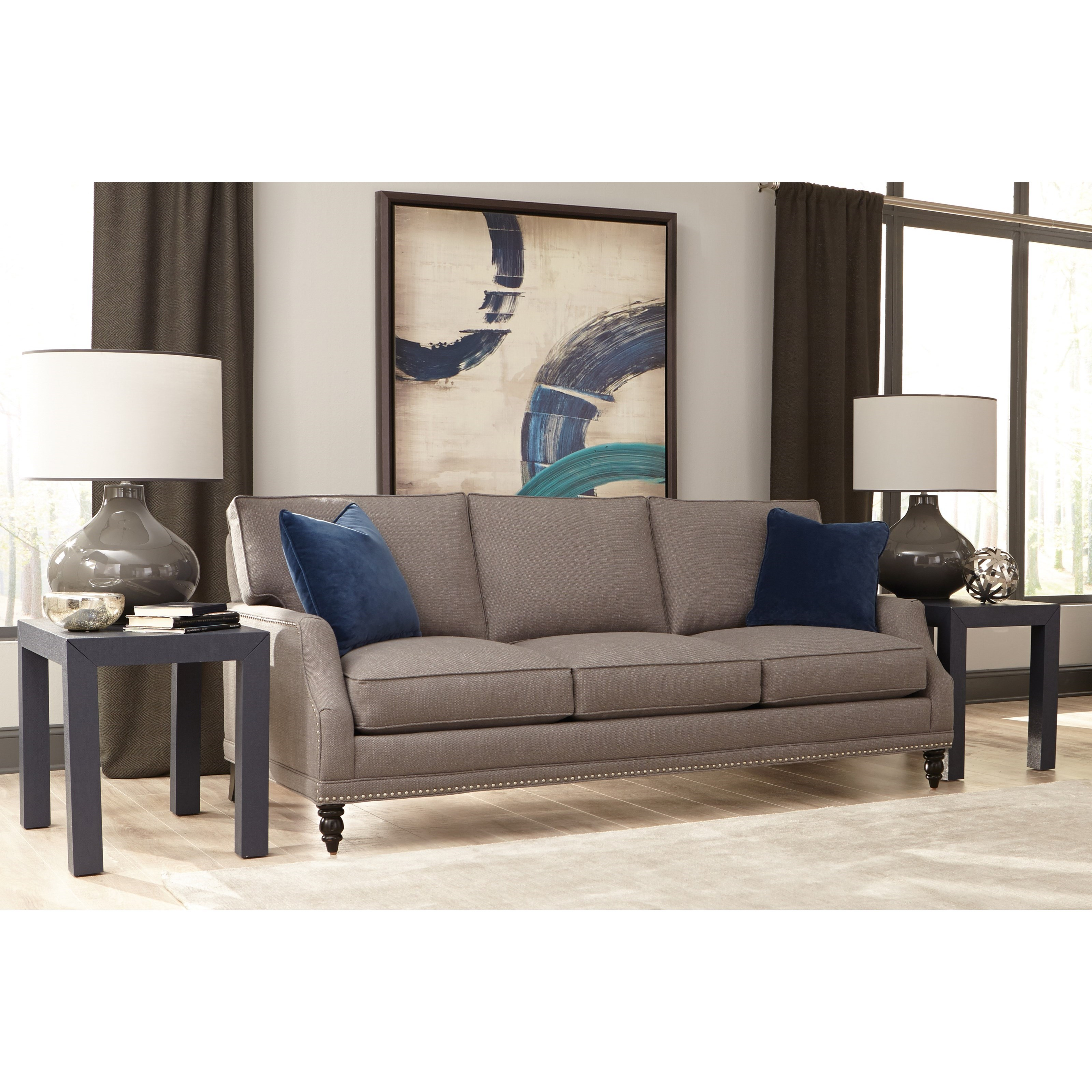 Rowe My Style Ii Customizable Sofa With Scooped Arms