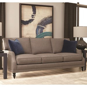 Rowe My Style I & II Transitional Sofa Turned Legs