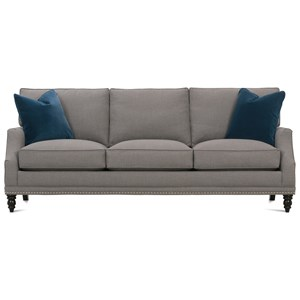Rowe My Style II Customizable Transitional Sofa Turned Legs