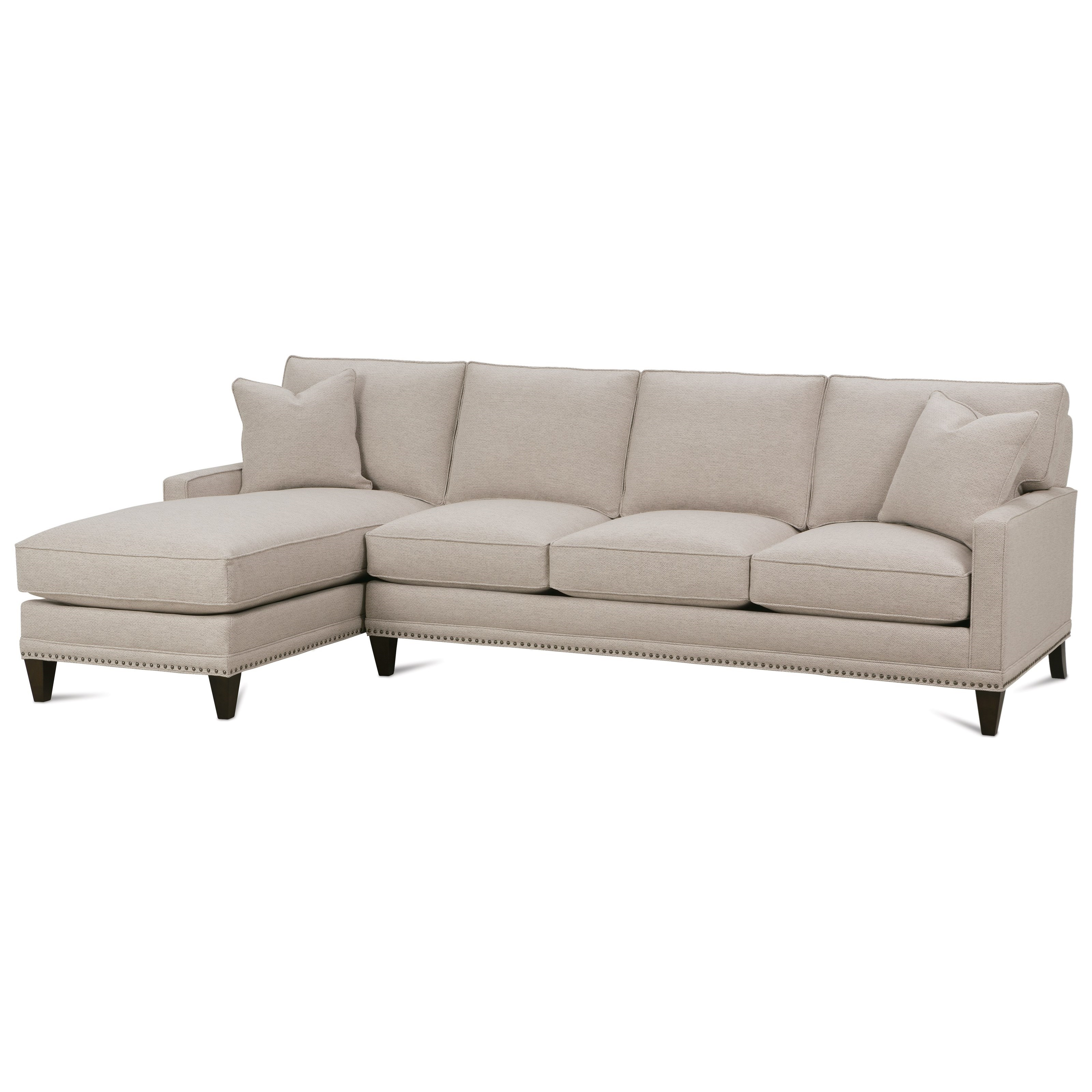 My Style II Customizable Sofa with Left Seated Chaise by Rowe at Baer's Furniture