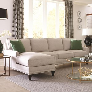 Rowe My Style I & II Transitional Sofa with Left Seated Chaise