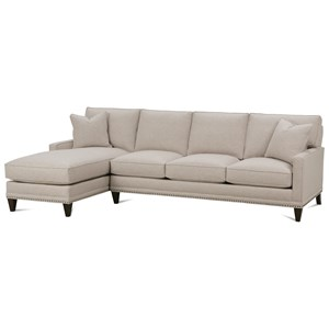 Rowe My Style II Customizable Sofa with Left Seated Chaise