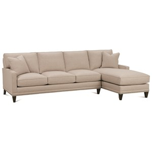 Rowe My Style I & II Transitional Sofa with Right Seated Chaise