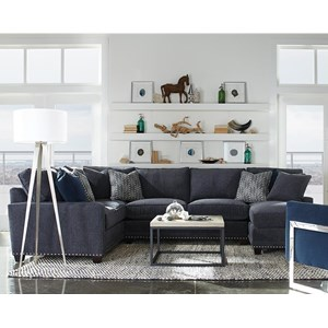 Rowe My Style I & II Transitional Sectional Sofa