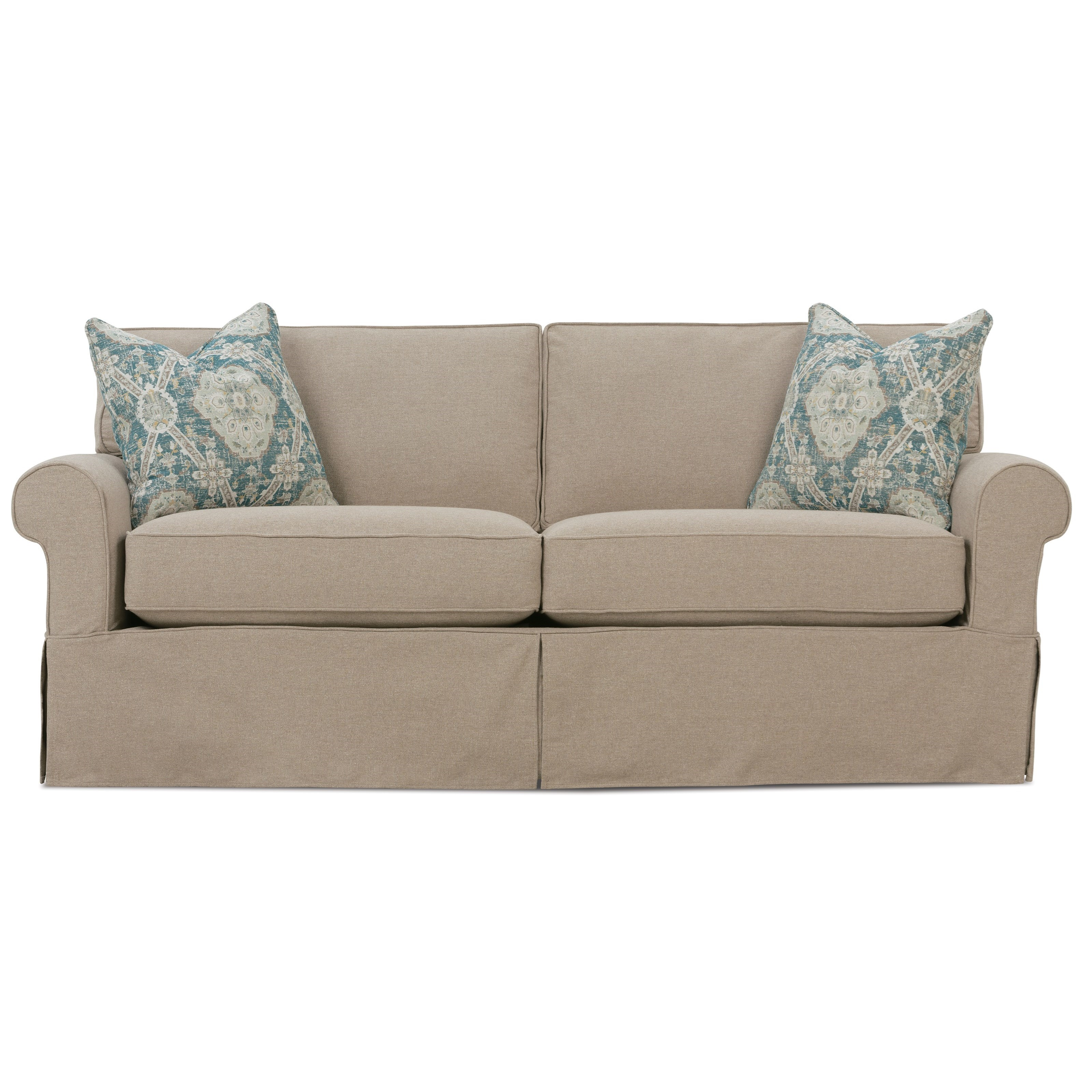 Rowe Nantucket Casual 2 Seat Slipcover Sofa Reeds